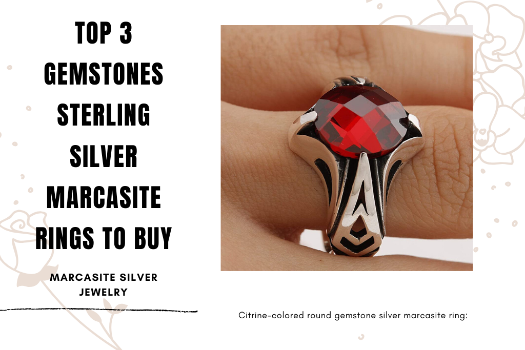 Top 3 Gemstones Sterling Silver Marcasite Rings to Buy