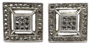 Vintage Marcasite Stud Earrings