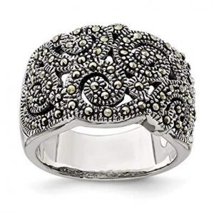 Sterling Silver Marcasite Rings 001 Sterling Silver Jewelry Marcasite Rings